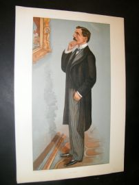 Vanity Fair Print 1900 George Denison Faber, Music